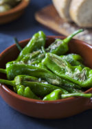 Blistered Padrons with Pimenton